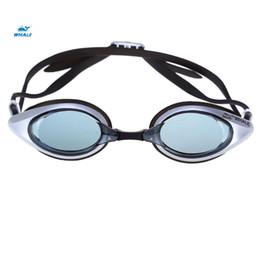 2019 strumenti d'urto Anti-shock e wide-field WHALE Anti-fog Occhiali protettivi Occhiali da nuoto Swimming 3D design del cerchio in silicone, di buona tenuta e impermeabile strumenti d'urto economici