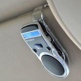 Wholesale Solar Speakers - Solar Powered LCD Display Bluetooth Car Kit Handsfree Calling Device Speaker