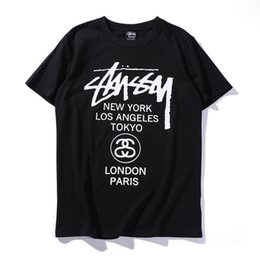 Wholesale hot t shirts for women - New Cotton Male and Female Lovers T Shirts 2018 Hot Sale Short Sleeve Tee Letter Printed Fashion Brand Designer T Shirt for Men Women