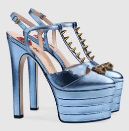 Wholesale embellished high heels - Multicolored Women High Heels Wome Pumps Platform Rivets Embellish Buckle Strap Patchwork Gladiator Stiletto Heels Fashion Party Shoes