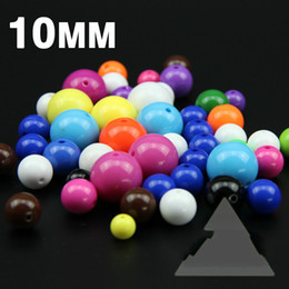 acryl chunky perlen halskette Rabatt Top-Qualität 100PCS 10mm Acryl Candy Farbe Perlen Farbe Ballon Romantik Bunte Chunky Perlen Schmuck Halskette DIY