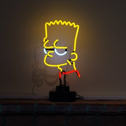 Argentina Monkey Desktop Neon Sign / Adolescentes Sala de juegos Brat Simpson Sculpture-Real Neon (no LED) Suministro
