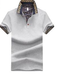 2019 jerseys de polo Polos para hombre de manga corta de verano Pullover Camisetas Moda Patchwork Estilo británico Tees Varones Camiseta Tops Ropa Tallas grandes M-5XL rebajas jerseys de polo
