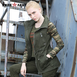923f45b8ae7 military jacket woman spring Canada - New Spring Autumn Women Denim Cotton  Army Green Fashion Vest