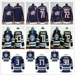 Wholesale Blue Dry - 2018 New Style Columbus Blue Jackets Hockey 3 Seth Jones 17 Brandon Dubinsky 38 Jenner Boone 71 Nick Foligno 72 Sergei Bobrovsky Jersey