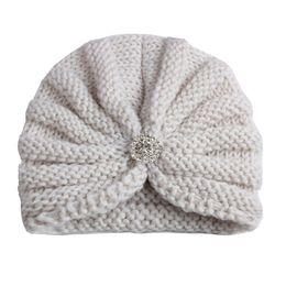 9c62e68bfe8 China 2018 children hats caps girls rhinestone hats crocheted india dome  kids winter beanie baby knitted