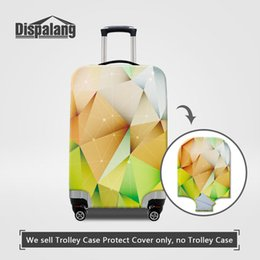 Travel Luggage Cover Diamond Geometric Triangle Suitcase Protector Baggage Case Dustproof Stretchy Fits 18-20 Inch