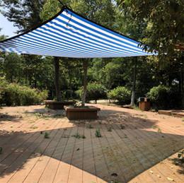 2019 piscina blu colore Diverse dimensioni Colore blu bianco Sun Shelter Mesh HDPE Rete ombreggiante con foro per metro per campeggio Copertura per piscina piscina blu colore economici