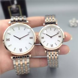 Wholesale Bronze Items - Fashion stainless Steel Quartz watch for man woman Japan Movement watches diamond Wristwatches Life Waterproof Brand male clock Hot Items
