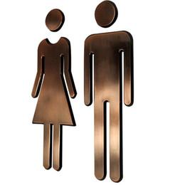 Canada Adhésif HOMME FEMME Signe de Porte de Toilette Salle de Bains Toilette Signe de Porte de WC Pour WC Autocollant Plaque de Porte Offre