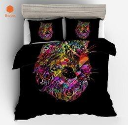 Cama de la reina del búho online-3 Unids Impreso Bohemia búho Juego de cama Suave Doble Completa Rey Reina Funda Nórdica con fundas de almohada Edredón Textiles Para El Hogar SJ208