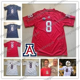 8e608b524 Arizona Wildcats Custom Any Name Any Number Navy New Red White Personalized  Stitched  8 Nick Foles NCAA College Football Jerseys S-4XL