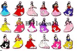 Libero artigianato diy online-Commercio all'ingrosso libero di trasporto 50 pz principessa colore mescola pendenti di fascini del metallo diy creazione di gioielli artigianali