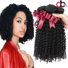 Wholesale Indian Deep Curly Hair - Gagaqueen Brazilian Deep Curly Hair 3 Bundles Brazilian Curly Virgin Human Hair Bundles Peruvian Indian Deep Curly Virgin Hair Extensions