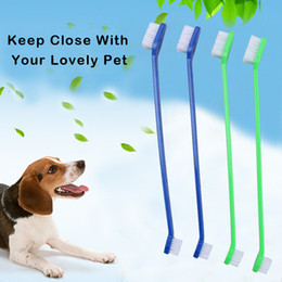 Wholesale Head Groom - Pet Supplies Cat Puppy Dog Dental Grooming Toothbrush Teeth Cleaning Double Head for Dental Care BPA Free