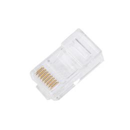 Wholesale rj45 modular - 10PCS Cat5 Cat5e Network Connector rj45 Metal Cable Modular Plug Terminals Professional Drop Shipping Futural Digital JUN16