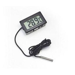 Congelador digital del termómetro del lcd del lcd online-200 unids Pantalla LCD Digital Termómetro Nevera Nevera Congelador de ACEITE FISH TANK Temperatura -50 ~ 110C GT Negro blanco Color w1128