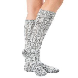 Discount football holidays - 1 Pair Christmas Long Tube Socks Women Men Printed Knitted Stretch Warm Solid Color Holidays Socks 2018 New Arrival
