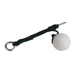 Argentina 1Pc Sport Golf Plastic Ball práctica Putting Green Bolas de entrenamiento con cuerda de acero Golf Training Aids Accessories BHU2 supplier putting green golf training aids Suministro