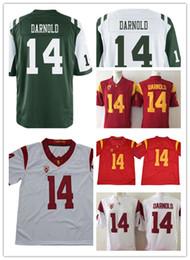 154341834 MENS NCAA USC Trojans Sam Darnold College Football Jerseys Stitched Red  White 14 Sam Darnold Jersey S-3XL