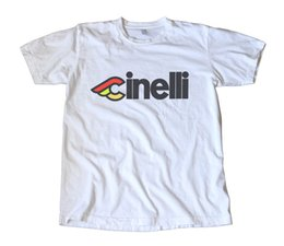 Wholesale Print Decals - Cool Funny T Shirt High Quality T Classic Cinelli Logo Decal T-Shirt Funny Printing Shirts Men Short Sleeve T-shirt