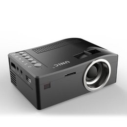 Hdmi pour le projecteur en Ligne-2018 Nouveau Original Unic UC18 Mini Projecteur LED Projecteurs de poche portables Lecteur Multimédia Home Theatre Game Prend en charge HDMI USB