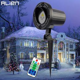 Laser ao ar livre rgb on-line-ALIEN RGB Em Movimento Estático Pontos Estrela Natal Laser Projetor de Luz Ao Ar Livre Jardim Férias Xmas Árvore Decoração Efeito Show de Luzes