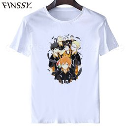2d5f057b school t shirts printing 2019 - haikyuu t shirt anime cosplay 5Styles Hot  Anime Karasuno High
