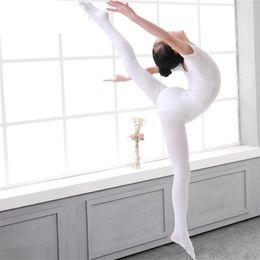 Wholesale Ballet Pantyhose - Kids Pantyhose dance socks for girls Leggings Tights 80D nylon Ballet bottom socks Tights Summer white Black apricot Wholesale cheap B11