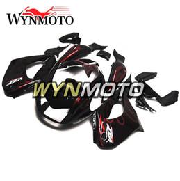 carenado ninja morado Rebajas Kit de carenado completo Black Flames para Yamaha YZF1000R Thunderace 1997 - 2007 98 99 04 05 06 ABS Plastics Injection Carrocería para motocicleta