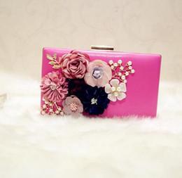 2019 saco de embreagem de ouro rosa Bolsas diretas da fábrica high-end estéreo flor mulher bolsa de mão elegante lady diamante saco de jantar vestido de festa collocation cadeia de flores pequeno pac