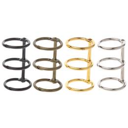 1 Stück x Innere Binder DIY Metall Clip 3 Löcher Ring für NotLose Blatt Tagebuch Fotoalbum Bindung Schwarz / Braun / Gold / Silber von Fabrikanten