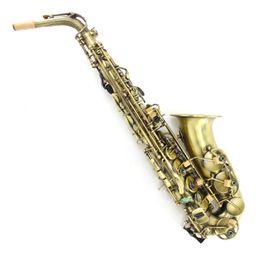 Wholesale copper alto saxophone - Customize Logo Saxophone Alto MG-82 Alto Eb Tune Sax E Flat Brass Antique Copper Simulation Sax Instruments With Mouthpiece Case