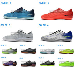 Wholesale Victory Boots - 2018 Best New Indoor Low Football Boots Mercurial Vapor XI FG Soccer Cleats Superfly CR7 Neymr Mercurial Victory TF IC Soccer Boots Shoes