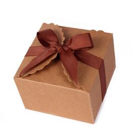 Canada 24 PCS Personnalisé Brun Kraft Papier Biscuit Sac Sac De Bonbons Biscuit Emballage Boîte De Bonbons De Mariage Cadeau Boîtes Babyshow Partie Fournitures Offre