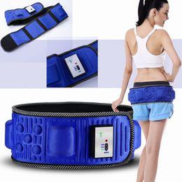Cintos vibratórios on-line-Vibração elétrica emagrecimento cinto de massagem cintura exercício de vibração de emagrecimento barriga de gordura queima de gordura aquecimento abdômen massageador aparador de cintura cinto