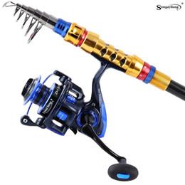 1.8 3.6m carbon telescopic fishing rod combo spinning reel fishing set bag short travel stick carp bass pike boat rod full kit