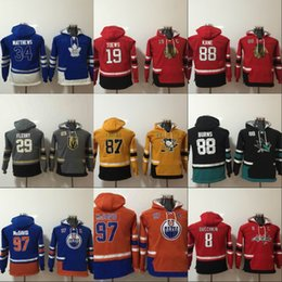 Wholesale Boys Xl Hoodie - Youth Hoodie Jersey Auston Matthews Jonathan Toews Patrick Kane Sidney Crosby Connor McDavid Alex Ovechkin Brent Burns Marc-Andre Fleury