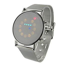 2018 mode nouvelle numérique imperméable à l'eau mens rouge + jaune + vert bleu LED en acier inoxydable montre-bracelet de mode c58X ? partir de fabricateur