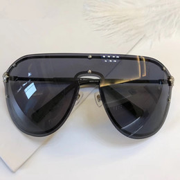 Wholesale Golden Connections - 2180 Sunglasses For Women Brand Design Rimless Frame Connection Lens UV400 Coating Mirrorr Lens Steampunk Summer Big Style Comw With Case