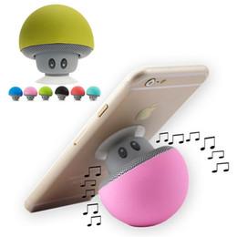 Wholesale speaker socket - Musically Pop Phone Holder Soporte Speakers MP3 Player Bluetooth Little Mushroom Stand for Xiaomi iPhone iPad Samsung Huawei Sony HTC Socket