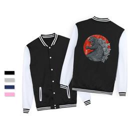 04948054e5298 2019 vogue casual chaquetas hombre SMZY TOKYO KAIJU Chaqueta de béisbol  para hombre sudaderas con capucha