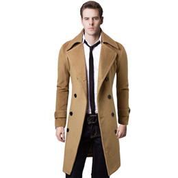 XXL Mantel Zweireiher Lang Trenchcoat Männer Winddicht Sobretudo Masculino Schlank Mens Wolle Mäntel Und Jacken 2017 von Fabrikanten