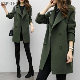 Canada Femmes en vrac Manteaux pour femme armée vert café noir Casual laine manteau maigre extérieur manteau à double boutonnage printemps automne GH001 cheap army green wool coat Offre