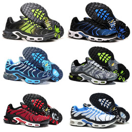 Wholesale Sport Comfort Sneakers - 2018 New Mens Sports Tn Running Shoes Fashion Comfort Barefoot Walking Training Sporting Shoes Sneakers Size 40-46