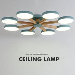 Lampadaires modernes postaux macaron LED Droplight noir / blanc / bleu / rose matériel fer et bois LED droplight pour l'éclairage de la chambre du foyer ? partir de fabricateur