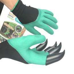 Wasserdichte gartenhandschuhe online-Garten Genie Handschuhe zum Graben Pflanzen Unisex 4 Krallen Einfache Möglichkeit zum Gartengraben Pflanzen Handschuhe Wasserdicht Beständig gegen Dornen B