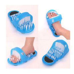 Wholesale Shoe Brush Wholesale - Bathroom Shoes Magic Stone Massage Bath Tool To Dead Skin Grinding Single Floor Feet Mat Anti-slip Strip Bathroom Set ZQ679343