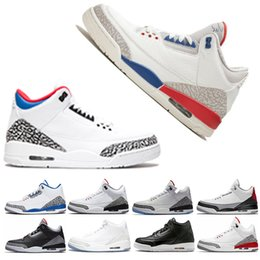 newest 30137 cc053 2019 korea winterschuhe Retro Air Jordan 3 Nike AJ3 3s Basketball Schuhe  Sneaker für Männer schwarz
