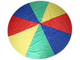 Wholesale Parachute Tents - Dia 2M 3M Child Kid Sports Development Outdoor Rainbow Umbrella Parachute Toy Jump-sack Ballute Play Parachute